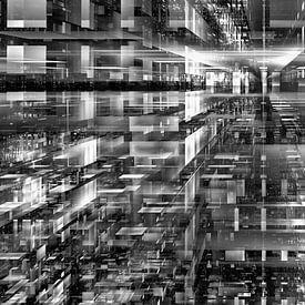 Matrix Panorama Noir Blanc sur Max Steinwald