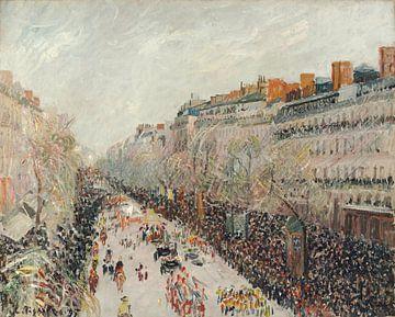 Mardi gras sur les boulevards, Camille Pissarro sur