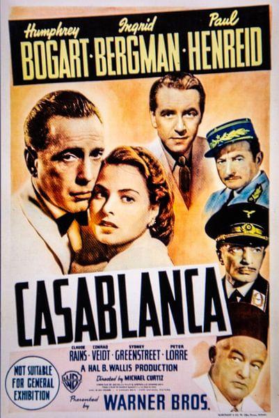CASABLANCA Poster van Brian Morgan