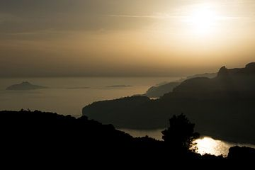 mediterraanse zonsondergang van Stefan Koeman