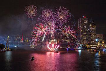 Vuurwerkshow Wereldhavendagen 2016 in Rotterdam van MS Fotografie | Marc van der Stelt