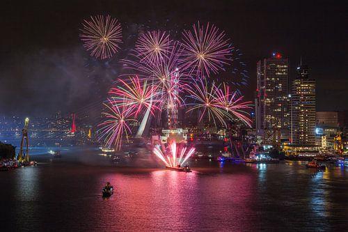 Vuurwerkshow Wereldhavendagen 2016 in Rotterdam