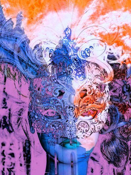 The two colored mask van Gabi Hampe