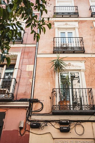 Kleurrijke huizen in Madrid, Spanje