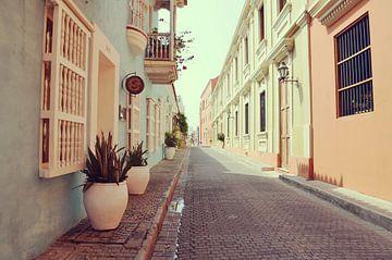 Die Gassen von Cartagena de Indias, Kolumbien von Carolina Reina