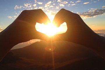 Maui Haleakalā vulkaan zonsopgang met hart van Martina Dormann