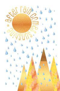 NAÏEF GRAFISCHE KUNST Na regen komt zonneschijn