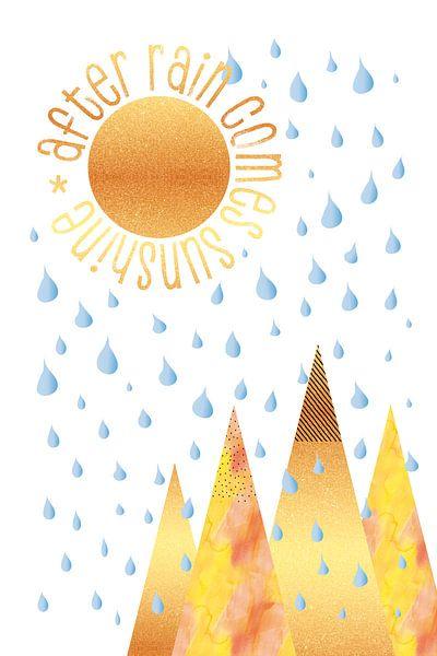 NAÏEF GRAFISCHE KUNST Na regen komt zonneschijn van Melanie Viola