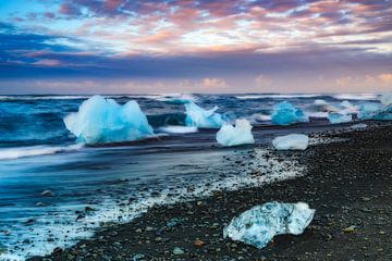 gletsjerlagune van Daniela Beyer