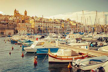 Yachthafen von Valetta, Malta von Marcel Bakker