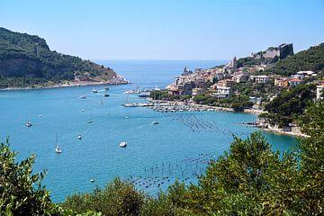 Détroit de mer entre la ville de Porto Venere et l'île de Palmaria, porte d'entrée des célèbres Cinq