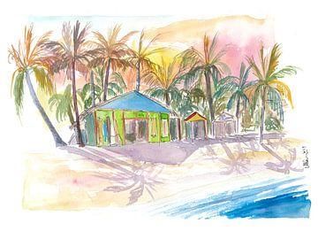 Dominicaanse Republiek strand in Punta Cana met winkels van Markus Bleichner