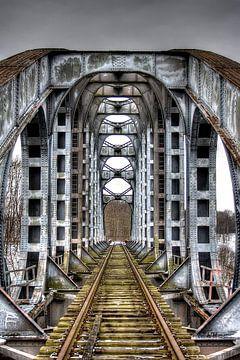 Industriële brug van