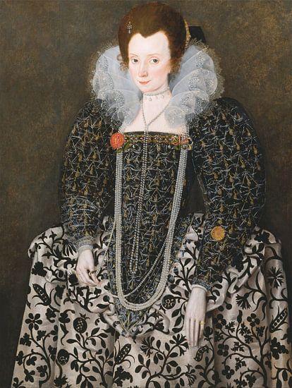 Portret van Mary Clopton, Robert Peake the Elder, Robert Peake the Elder
