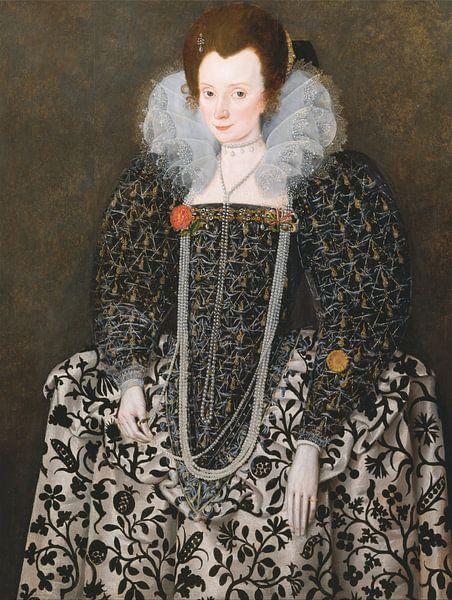 Portret van Mary Clopton, Robert Peake the Elder, Robert Peake the Elder van Meesterlijcke Meesters