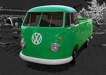 VW Bus in originele kleur van aRi F. Huber