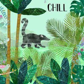 Chill Faultier mit Nasenbär von Green Nest