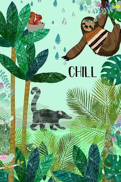 Chill Faultier mit Nasenbär van Green Nest