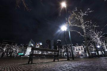 Het Plein bij nacht, Den Haag van Wouter Kouwenberg