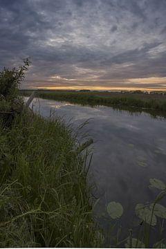 zonsondergang bij de alm von Rubin Versigny