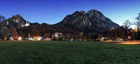 Panorama op kasteel Neuschwanstein
