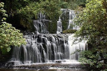 Purakaunui-Fälle, Wasserfall in Neuseeland von Jeroen van Deel