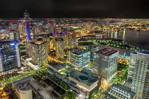 Nachtelijk Yokohama