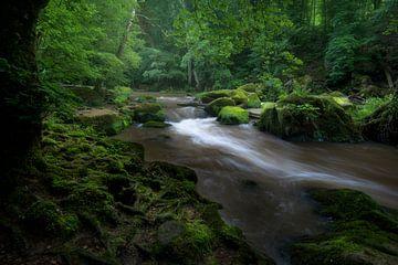Watervallen van Irrel in de Eifel in Duitsland. van Jos Pannekoek