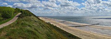 Panorama strand tussen Zoutelande en Dishoek