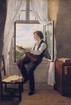 Otto Scholderer- Der Geiger am Fenster