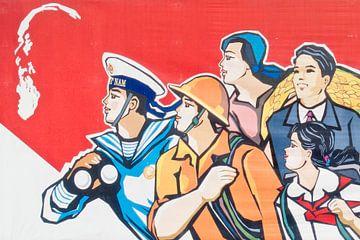 Ho Chi Minh poster van Jaap Baarends