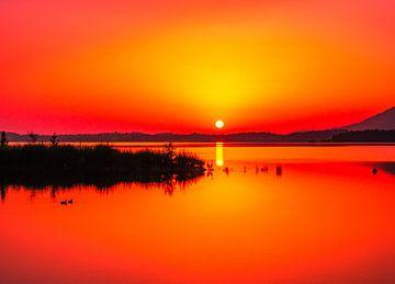 Sonnenuntergang am See von Mustafa Kurnaz