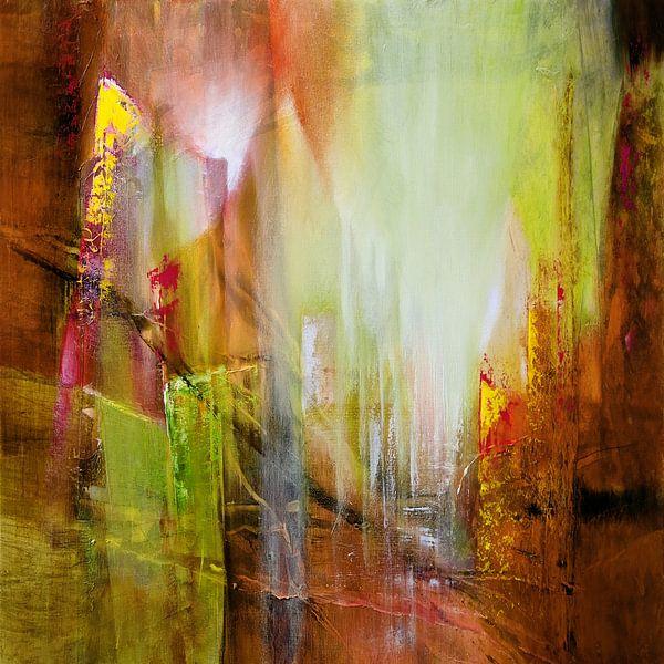 Doorzichtigheid in rood en groen van Annette Schmucker