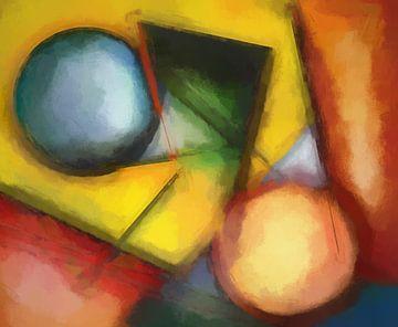 Abstracte samenstelling 1071 van Angel Estevez