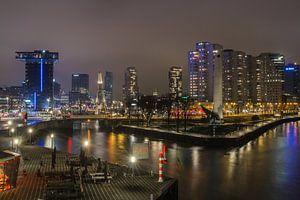 Zicht op Rotterdam van