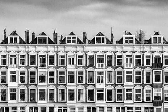 Oude huizen aan de Rotterdamse Maaskade van Martin Bergsma