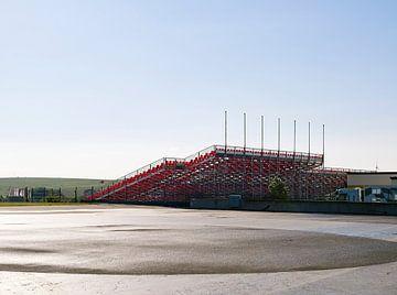 Lege tribune op de Sachsenring van Michael Moser