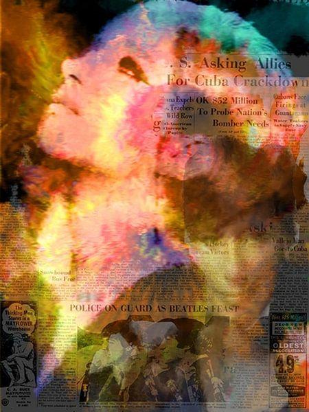 Barbara News Barbara Streisand Barbara Streisand Pop Art van Leah Devora