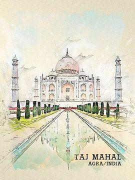 Taj Mahal van Printed Artings