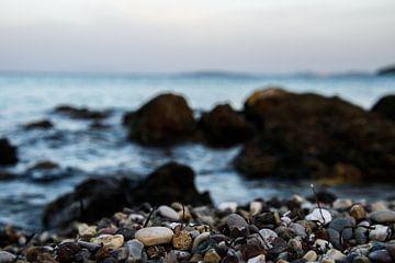 Der Strand von Korfu, Griechenland von Michelle van den Boom