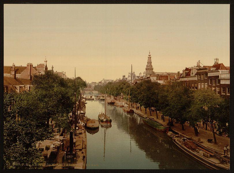 Kloveniersburgwal, Amsterdam van Vintage Afbeeldingen