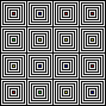 Nested | Center | 04x04 | N=06 | Random #02 | RGBY van Gerhard Haberern