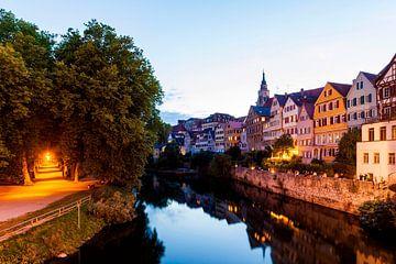 Neckarfront in Tübingen am Abend von Werner Dieterich