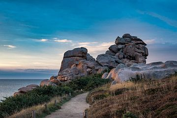 Atlantikküste in der Bretagne van Rico Ködder