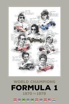 Formule 1-wereldkampioen van 1970 tot 1979 van Theodor Decker