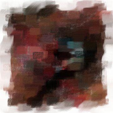 Abstrakt in Braun, Rot und Blau von Maurice Dawson