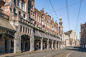 Verlassene Straße Raadhuisstraat in Amsterdam von Sjoerd van der Wal