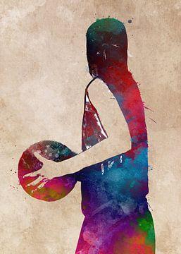 Basketbal 9 sportkunst #basketbal van JBJart Justyna Jaszke