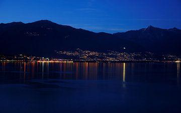 Abend am Lago Maggiore von Gisela Scheffbuch