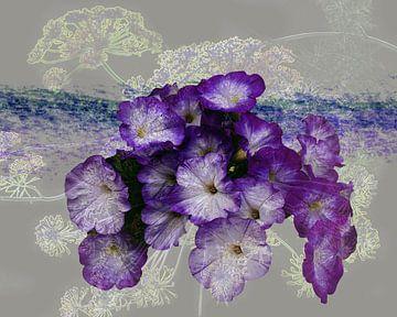 Paarse bloemen creatie sur Ina Hölzel